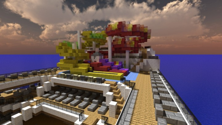 Minecraft S 1st Carnival Vista Cruise Ship 1 1 Scale