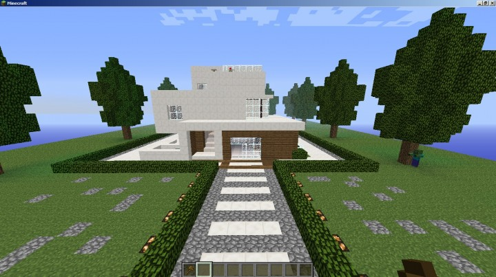 Modern house minecraft project for Show pool post expert ng best forum