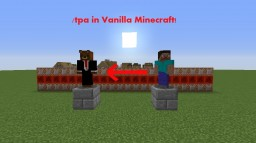 /tpa Command in Vanilla Minecraft! Minecraft