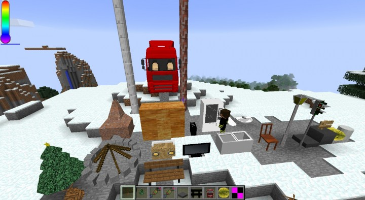 Some of the blocks and the truck