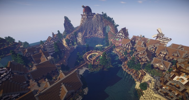 Large Medieval Town By Urux Pl Minecraft Project