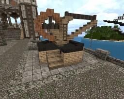 Medieval harbour crane Minecraft