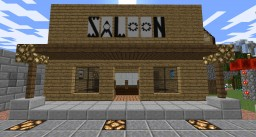 Western Saloon plus Wishing Well park. Minecraft Map & Project