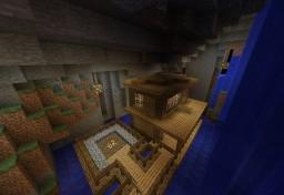 Casa Bajo la Cascada Minecraft Map & Project