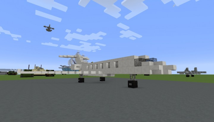 Jet Privato Minecraft : Gulfstream g business jet scale minecraft project