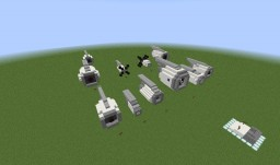 Jet Engine Pack ( Unducted Fan, Turboprop, Turbojet, and Turbofan) Minecraft Map & Project