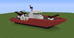 Custom Ship version: Firefighter Ship Minecraft Map & Project