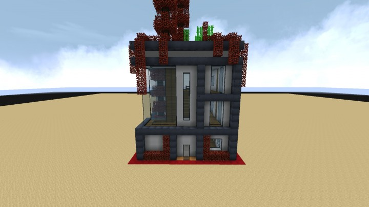 15x15 Small Futuristic House Minecraft Map