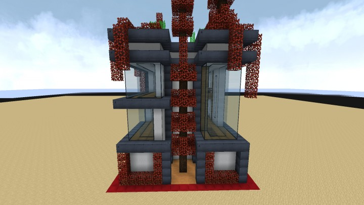 15x15 Small Futuristic House Minecraft Project