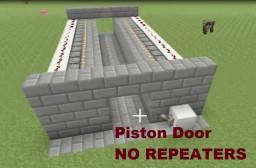 Tutorial : 2x2 Piston Door, 15 blocks long NO REPEATERS