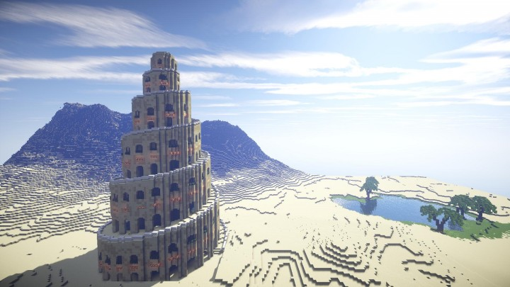 Spiral Tower Of Babylon Minecraft Project