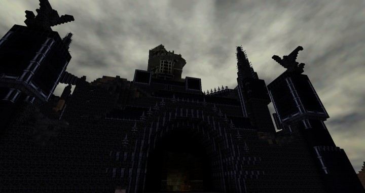 finished collapsing tower...view to the tower after escape!
