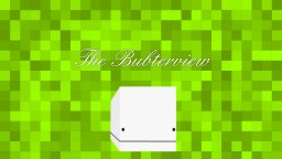 The Bubterview - An Interview with Bubz Minecraft Blog Post
