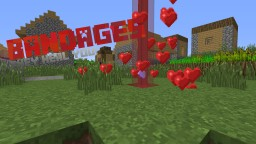 Bandages in Vanilla Minecraft [1.8] (Import to your world!)
