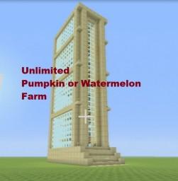 Tutorial: Pumpkin & Melon Farm NO REPEATERS & AUTOMATIC Minecraft Map & Project