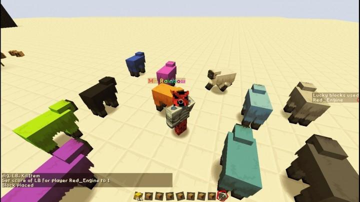 Mr. Rainbow sheeps!