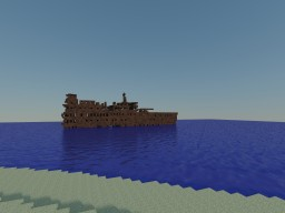 Ship Wrecked Ocean Liner! (not my idea though, read description) Minecraft