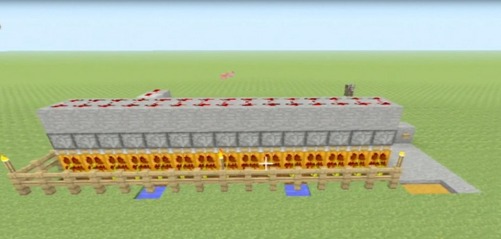 how to make a automatic pumpkin farm minecraft
