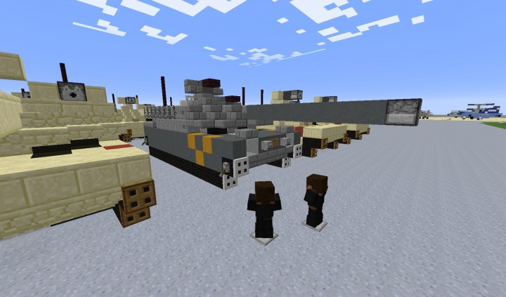 Inspecting the new M1A3 Tank developed by Fox Industries