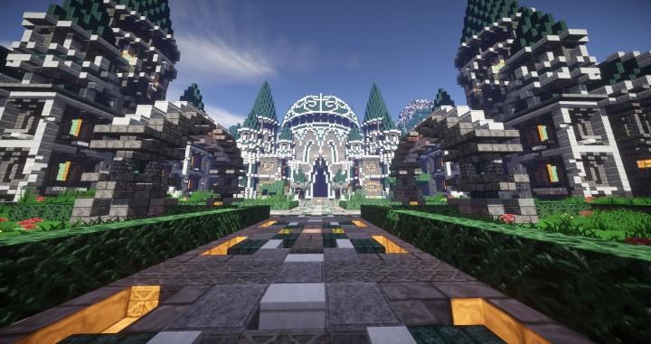 Modern Castle Spawn Design 1 8 Blocks Minecraft Project