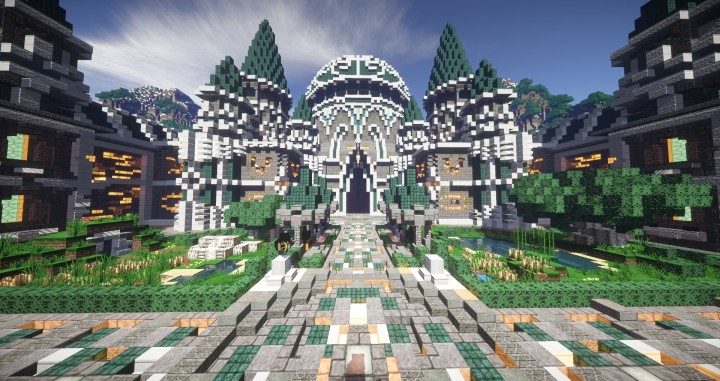 Modern Castle Spawn Design 1 8 Blocks Minecraft Project