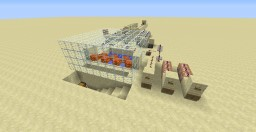 Iron Golem Generator Farm (With delay switch) Minecraft Project