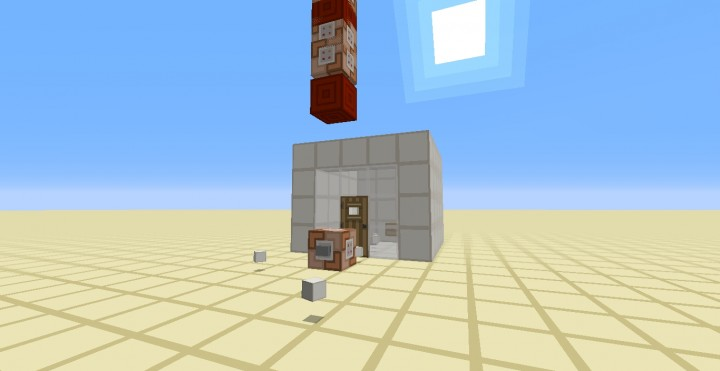 Single command block contraption auto building small