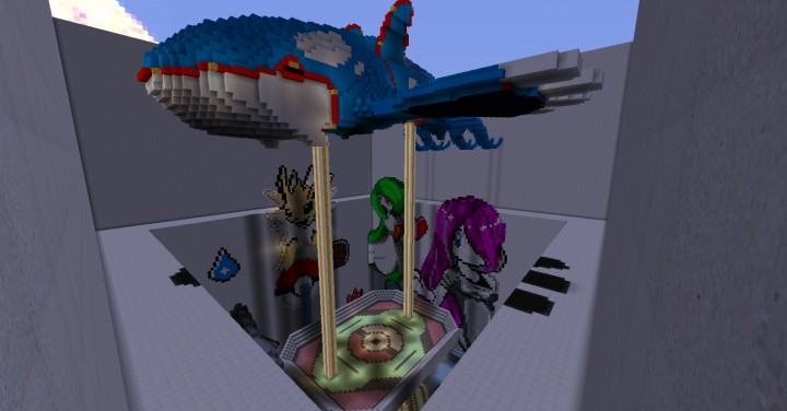 Our 6th Kitpvp map that is Pokemon themed! There are four levels to it, the last being on top of the massive kyogre.