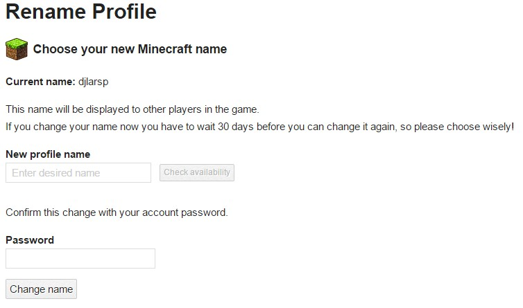 How to change your minecraft user name! Minecraft Blog