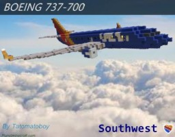 Boeing 737-700 | Southwest Airlines | Heart Livery Minecraft Map & Project