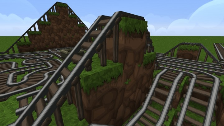 3D Models for all Rails - requires PureBDcraft Addon More 3D Blocks