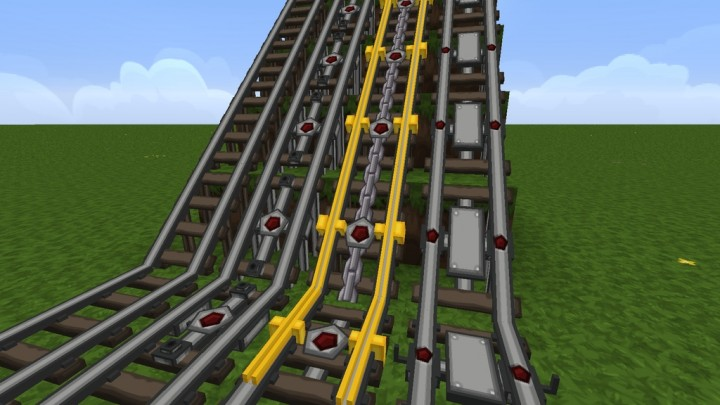 Advanced 3D Models for Rails - requires PureBDcraft Addon More 3D Blocks
