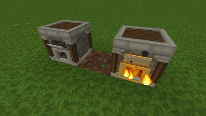 3D Model for Furnaces - requires PureBDcraft Addon More 3D Blocks