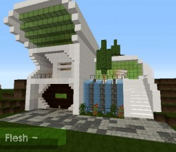 Flesh - Modern House Minecraft Map & Project
