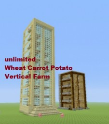 Tutorial : Wheat, Carrot, Potato Farm NO REPEATERS & AUTOMATIC Minecraft Project