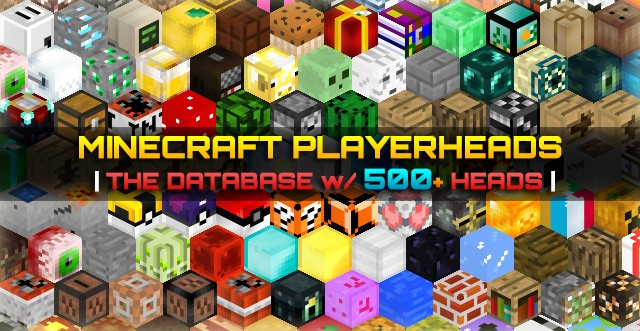 Minecraft Player Heads Database 500 Heads Listed Tutorial