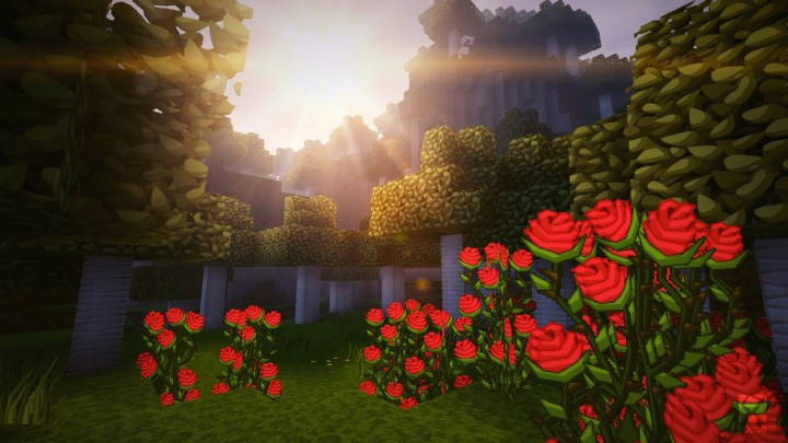 Example of PureBDcraft with Shaders