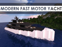Modern Fast Motor Yacht Minecraft Map & Project