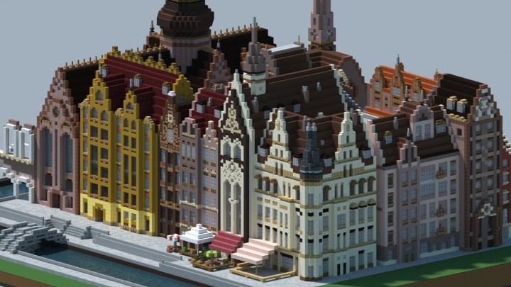 european inspired city minecraft project. Black Bedroom Furniture Sets. Home Design Ideas