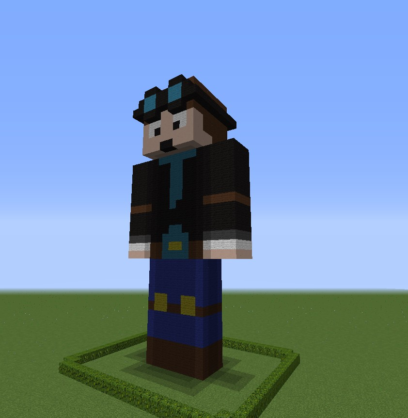 How to build a dantdm skin statue minecraft blog for How to build a blog
