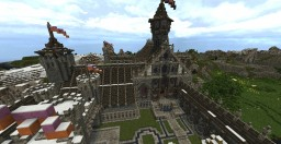 Attack and Defend - Medieval Castle Town + DOWNLOAD Minecraft Map & Project