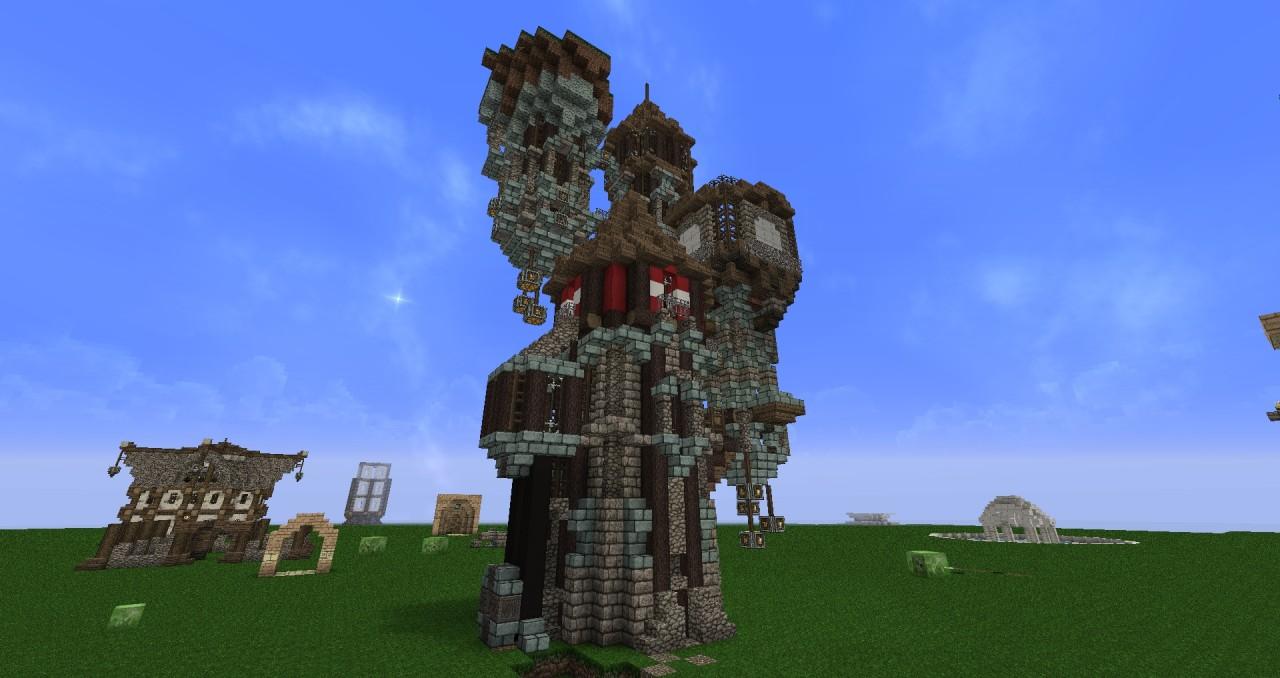 Minecraft Wizard Tower Build