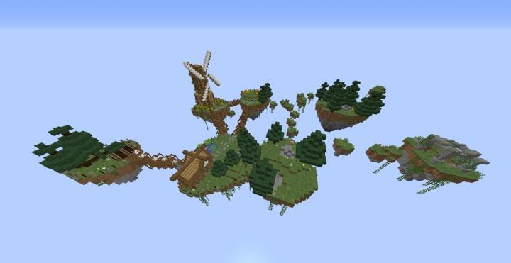 Карта для майнкрафт 1.7.10 летающие острава