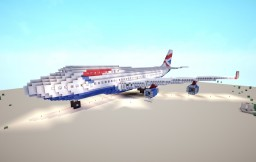 Boeing B747-400 British Airways Minecraft
