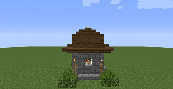 Minecraft 7x7 survival house minecraft project for Minecraft modern house 7x7