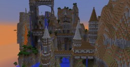 mountain castle complex Minecraft Project