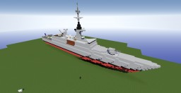 Frigate LaFayette class 1:1 scale (no interior) Minecraft Map & Project