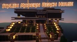 Stylish Modern Beach Home Minecraft Map & Project