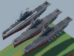 USS CV Yorktown Class (1942) Minecraft Map & Project