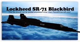 Lockheed SR-71 Blackbird Minecraft